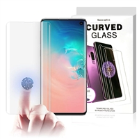 UV Liquid Glue Curved Tempered Glass Screen Protector for Galaxy S10