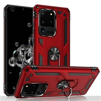 Samsung Galaxy S20 Ultra Magnetic Ring Stand Hybrid Case - Red