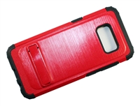 Samsung Galaxy S8 New Armor Case with Kickstand - Red