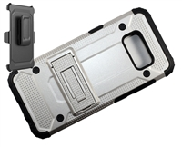 Samsung Galaxy S 8+ Plus Armor Holster Combo Case - Silver