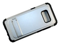 Samsung Galaxy S8+ Plus New Armor Case with Kickstand - Silver