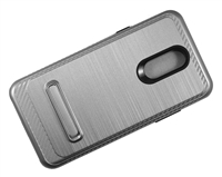LG Stylo 5 Armor Case with Magnetic Kickstand Case - Silver