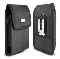 Vertical Rugged Nylon with velcro flip closure Pouch fit i730 / flip phone