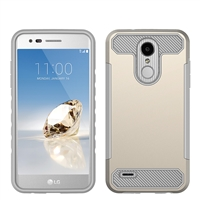 LG Aristo 3 X220 / Aristo 2 X210 / Tribute Dynasty / Tribute Empire / Fortune 2 CF Armor Case - Gold