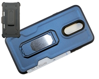 LG Aristo 4 / Escape Plus / Tribute Royal / X320 Multi-Function Holster Combo Case - Blue
