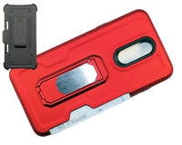 LG Aristo 4 / Escape Plus / Tribute Royal / X320 Multi-Function Holster Combo Case - Red