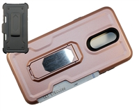 LG Aristo 4 / Escape Plus / Tribute Royal / X320 Multi-Function Holster Combo Case - Rose Gold