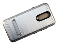 LG Aristo 4+ / Escape Plus / Tribute Royal / X320 Armor Case with Magnetic Kickstand - Silver