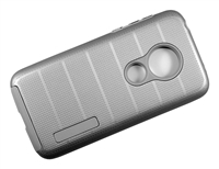 Moto G7 Play XT1952 / REVVLRY New CF Armor Case - Silver