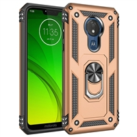 Moto G7 Play XT1952 Magnetic Ring Stand Hybrid Case - Gold
