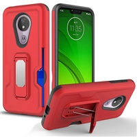 Motorola Moto G7 Power / Supra Xt1955 Holster Combo Case - Red