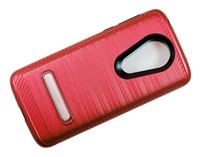 Moto G7 Power / Supra XT1955 Armor Case with Magnetic Kickstand - Red