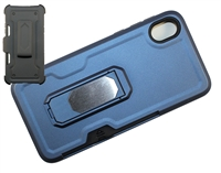 Moto E6 XT2005 Multi-Function Holster Combo Case - Blue