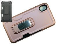 Moto E6 XT2005 Multi-Function Holster Combo Case - Rose Gold