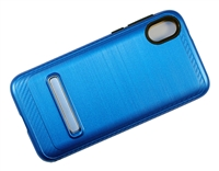 Moto E6 Play XT2005 Armor Case with Magnetic Kickstand - Blue