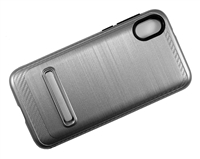 Moto E6 Play XT2005 Armor Case with Magnetic Kickstand - Silver