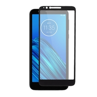 Full Coverage Tempered Glass Screen Protector for Motorola Moto E6 XT2002 - Black