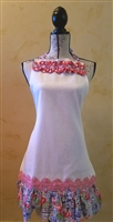 Sweet and Sassy Apron - White