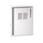 "AOG 20"" x 14"" Premium Single Louvered Door with Tank Tray - Left Hinge (20-14-SSDLV)"