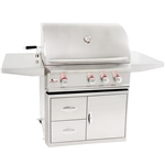 "BLAZE 34"" Professional Grill with Cart (BLZ-3PROCARTPKG)"