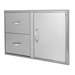 "BLAZE 32"" Access Door & Double Drawer Combo (BLZ-DDC-R)"