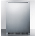 "SUMMIT Classic Collection 24"" Outdoor Stainless Refrigerator with Lock (CL68ROS)"