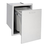 "LYNX Ventana 18"" Slide-Out Outdoor Trash and Recycle Center (L20TR-4)"