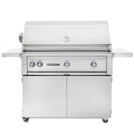 "SEDONA by Lynx 42"" L700-Series Grill with Three Stainless Steel Burners, Rotisserie and Cart (L700FR)"