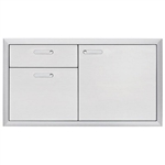 "LYNX Ventana 42"" Storage Door and Double Drawer Combination Unit (LSA42-4)"