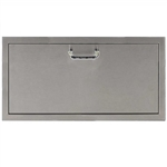 "PCM Stainless Steel 30"" x 15""  Single Large Drawer Storage (PCM-260-1DR30X15)"