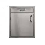 "PCM Stainless Steel 4"" Drawer above 21"" Single Access Door - Left Hinge (PCM-260-SDHDR21L)"