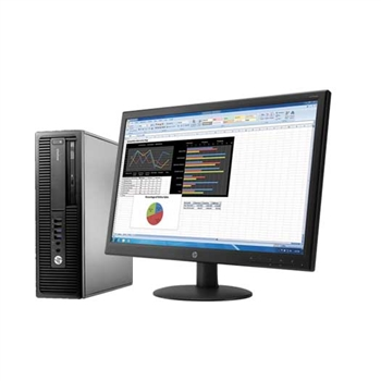 HP EliteDesk 705 G2 Desktop + Monitor Bundle