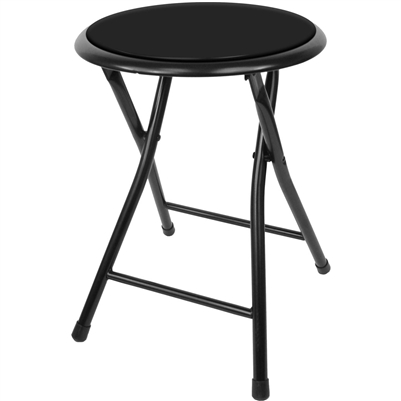 "Folding Stool 18"" in Black"