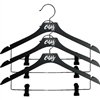 "17"" Black Wooden Hanger - Set of 3"