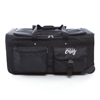 The Caddy Bag is the ultimate duffel with wheels and a side hanging garment rack