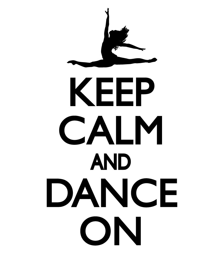 Keep calm and dance on decal for I love dance coloring pages