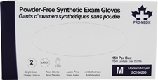 Latex-Free, Powder-free Medium exam gloves
