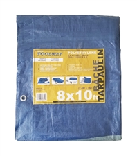 Tarp 8ft x 10ft Blue