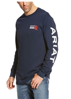 Ariat Men's FR Long-Sleeve Logo Crew Shirt