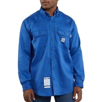 Carhartt Men's FR Twill Button-Up Work Shirt FRS003