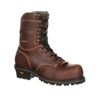 "Georgia Boot Men's 9"" AMP LT Waterproof Composite Toe Logger GB00236"