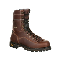 "Georgia Boot Men's 9"" AMP LT Waterproof Low Heel Composite Toe Logger GB00238"