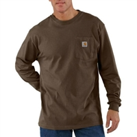 Carhartt Men's Long Sleeve Workwear Pocket Crewneck T-Shirt