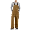 Carhartt Men's Duck Zip To Thigh Bib Overall / Quilt Lined R41