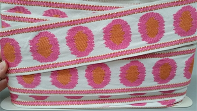 Strohiem Bloomsbury Pink/Orange trim
