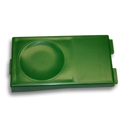 A28487 Button, Green Rectangular