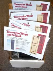 Decorative Hinge and S-Hook (Full box, 6 sets)
