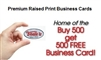Premium Raised Black Print One Sided Business Cards Toms Instant Printing