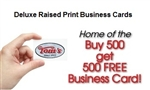 Deluxe Raised Black Print One Sided Business Cards Toms Instant Printing