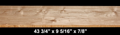 "Thermally Modified Soft Maple - 43 3/4"" x 9 5/16"" x 7/8"" - $35.00"
